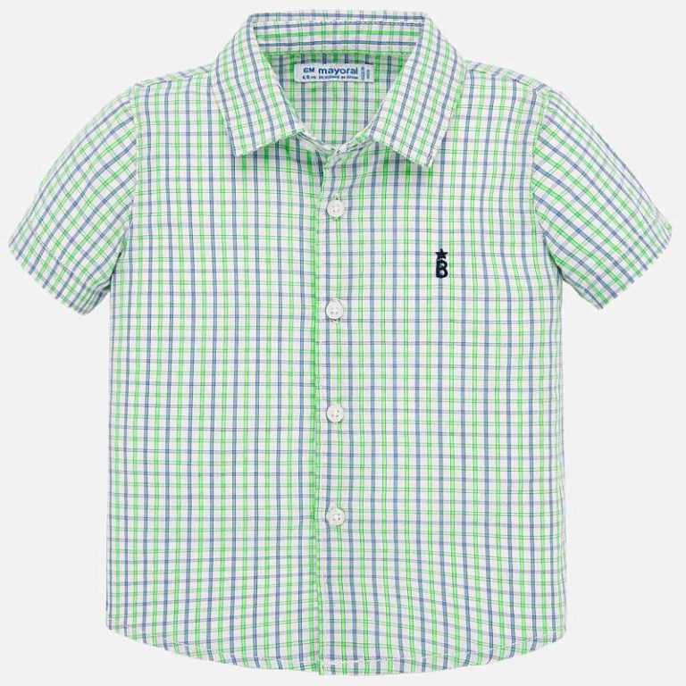Green Checkered Polo - 1158 Size 12M 18M 24M 36M Price 9.45
