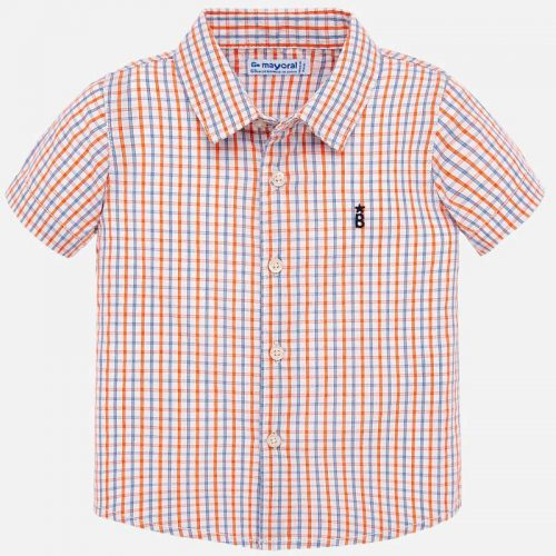 Orange Checkered Polo - 1158 Size 12M 18M 24M 36M Price 9.45
