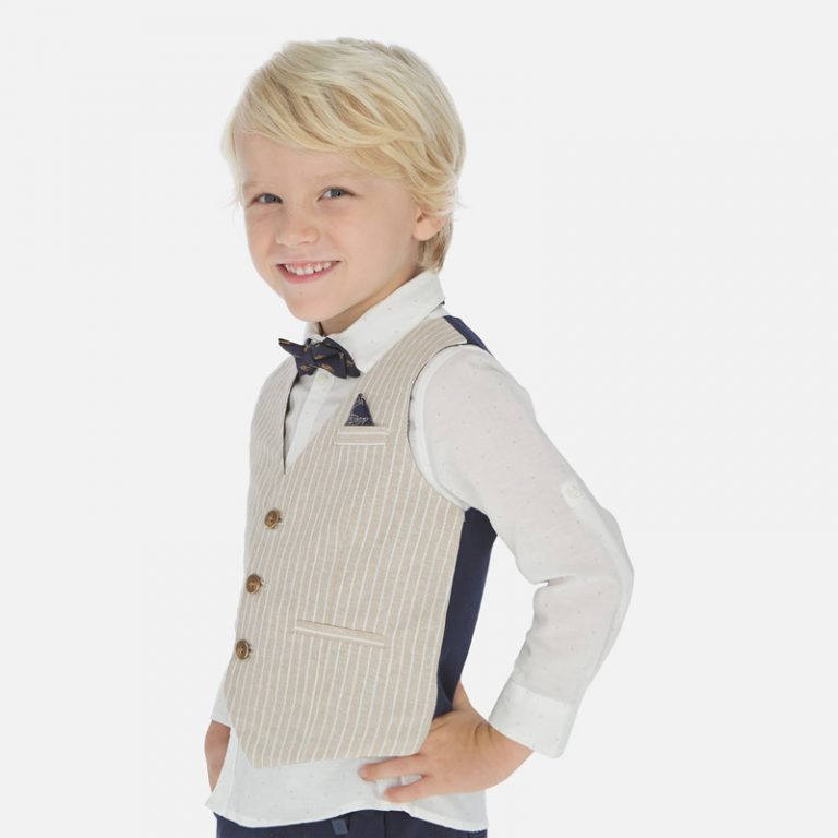 Vest Beige 3438 Sizes 2 - 9 Years Price 14.9Bd