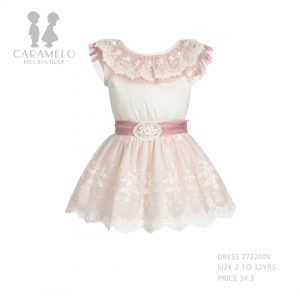 Dress 272200V Size 2 To 12 Yrs Price BHD 34.300 - Front