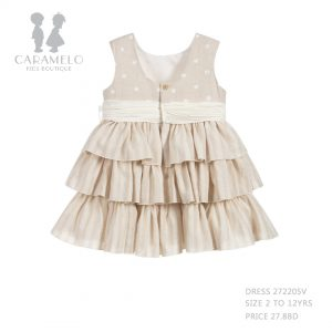 Dress 272205V Size 2 To 12 Yrs Price: BHD27.800 - Back