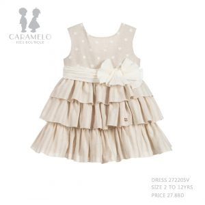 Dress 272205V Size 2 To 12 Yrs Price: BHD 27.800 Front