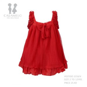 Dress 272216V Size 2 To 12 Yrs Price: BHD 25.400 Back