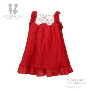 Dress 272216V Size 2 To 12 Yrs Price: BHD 25.400 Front