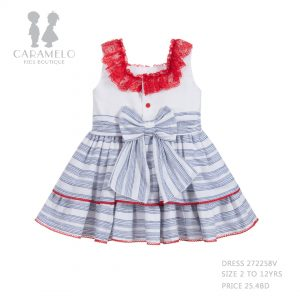 Dress 272258V Size 2 To 12 Yrs Price: BHD 25.400 Back