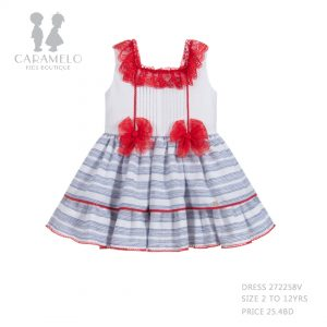 Dress 272258V Size 2 To 12 Yrs Price: BHD 25.400 Front