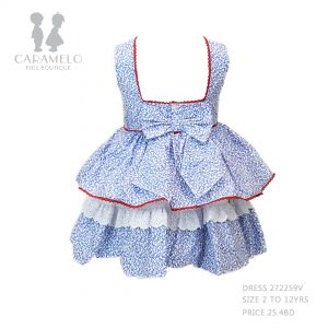 Dress 272259V Size 2 To 12 Yrs Price: BHD 25.400 Back