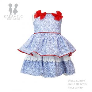 Dress 272259V Size 2 To 12 Yrs Price: BHD 25.400 Front